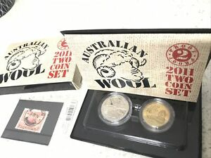 2011 PROOF $1 & 20c RAM Coin Set & 1934 Stamp Cheapest Listed on eBay ??  S50