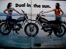 1975 Harley Davidson SX 175 & SX 250 Original Print Ad-8.5 x 10.5-2 page