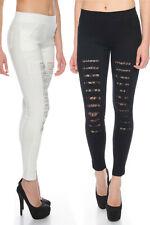 Treggings Jeans Hose Jeggings leggings elásticos grietas pedrería punta