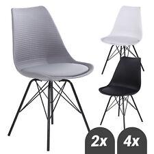 Esszimmerstuhl Küchenstuhl Stuhl Design Kunststoff Sitzfläche in Lederoptik