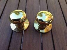 Schlage Bright Brass Dummy Door Knobs (2)