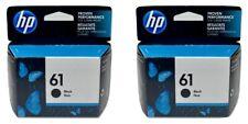HP 61 Ink Cartridge Black 2-Pack NEW Genuine Mid to late 2021