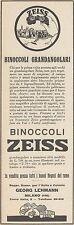 Z3254 Binoccoli Grandangolari ZEISS - Pubblicità d'epoca - 1929 Old advertising