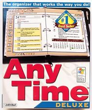 Any Time Deluxe 8.0 calendar and organizer PC software CD-ROM Anytime New in Box