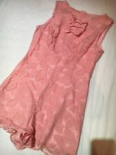 River Island Pink Bow Laced Playsuit Size 8