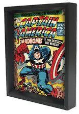 CAPTEIN AMERICA-#193 8x10 3D SHADOWBOX ART MARVEL SUPERHERO AVENGERS WW2 SHIELD!