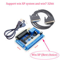 CNC 5Axis Breakout Board for Stepper Driver MACH3+USB Cable+DB25 Parallel Cable