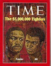 1971 3/8 Time Magazine boxing Joe Frazier Muhammad Ali