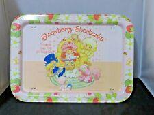 Vintage Strawberry Shortcake Tin TV tray - SSC & friends reading