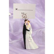 Segnaposto clip statuina strass coppia sposini bomboniera nozze porta fotografie