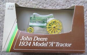 1988 Ertl Die Cast John Deere 1934 Model A Tractor 5598 1/43 scale