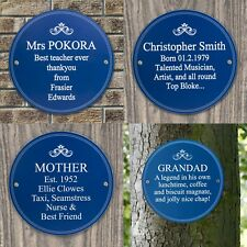 Personalised Blue Heritage Wall Plaque Sign Birthday, Wedding, Christmas gift