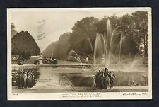 View of the East Garden Fountain, Hampton Court Palace. Postmark - 1929.