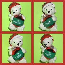 Ganz Beary Merry Christmas Polar Bear Ornament Personalized Choose Name Xmas NWT
