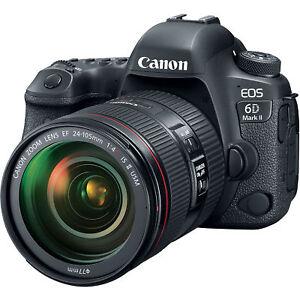 "Canon EOS 6D Mark II 24-105mm F4 26.2mp 3"" Brand New jeptall"