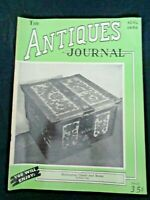 1950 Antiques Journal Norwegian Chests Wood Boxes Wedgwood Jasper Stiegel Glass