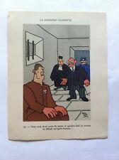 La dernière cigarette SANSTICKETS Dessin illustration POL FERJAC HUMOUR 1942