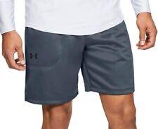 Under Armour MK1 Warm Up Mens Training Shorts Grey Loose Gym Workout Short UA