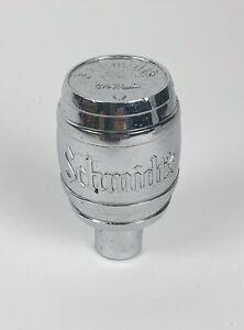 Vintage Schmidt's beer chrome barrel tap knob old breweriana bar