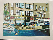 Jeffrey RIVERS, Original Serigraph On Canvas, Broadway & Paradise, Signed #'d