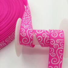 DIY 5 Yards 3/4'(20mm)Wide Sewing Printed Grosgrain Ribbon Hair Bow Sewing SKT21
