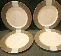 4 NAUTICA WEST END DINNER PLATES  11 1/2''