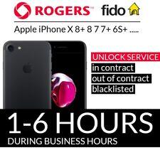 ROGERS IPHONE X 8+ 8 7 7+ 6S+ 6S 6+ 6 UNLOCK CODE SERVICE 1 - 2 DAYS