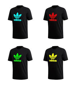Adidas Men's T-Shirt Trefoil Logo Graphic T-Shirt  (Green,Red,Aqua,Yellow)
