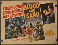 BLOOD AND SAND R-1948 ORIGINAL 22X28 MOVIE POSTER TYRONE POWER LINDA DARNELL
