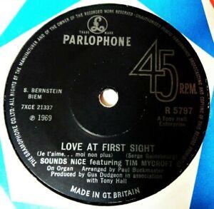 SOUNDS NICE Love At First Sight VINYL 45 Gainsbourg Tim Mycroft Hammond Beat UK