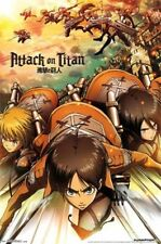 ATTACK ON TITAN ATTACK POSTER NEW 22x34 FUNIMATION JAPANESE ANIME FREE SHIPPING
