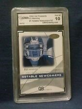 ROOKIE CARD ELI MANNING CARD GRADED 10 2004 HOT PROSPECTS #1 NOTABLE NEWCOMERS