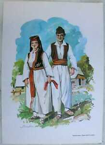 ca.1980 print Bosnia Folk Costume - vicinity of Travnik