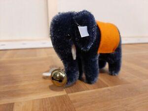 Steiff Elefant Mohair- Blau - 9cm - Club Geschenk 2007