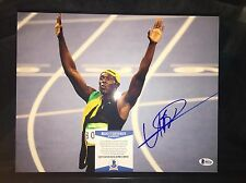 Usain Bolt Signed 2016 RIO Olympics 11x14 Photo 9 Gold Medals Jamaica Beckett #2