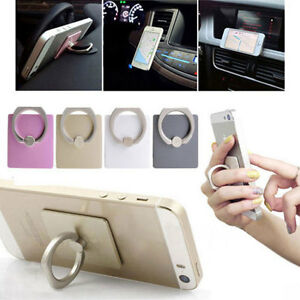 360-degree Rotation Ring Stand Mount Holder Car Bracket For iPhone 6s/6s Plus s1