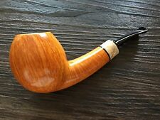 NEW UNSMOKED NATHAN ARMENTROUT Smooth Apple w/ Buckeye Burl Pipe