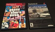 Lot of Two Sony PS2 Grand Theft Auto Vice City & Supercar Street Challenge