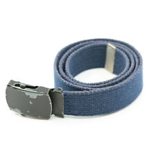 Men's Navy Blue Knit Cotton Belt with Autogrip Buckle Size 32 - 36 Waist No Res