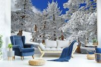 3D Snow Scene Woods Snow R1098 Wallpaper Wall Mural Self-adhesive Commerce Amy