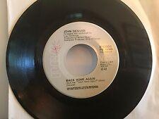 """JOHN DENVER-Original HIT 45-""""Back Home Again""""-RCA Records-1974-EX"""