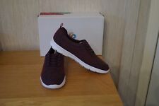 Ladies CLARKS STEP ALLENABAY Size 5.5 D Aubergine Cloudsteppers Trainers Shoes