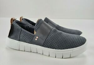 Ryka Perforated Slip-On Shoes Haze Sneaker, Grey, Size 7 M