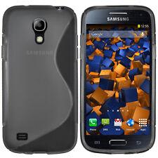 mumbi Hülle f. Samsung Galaxy S4 mini Schutzhülle S-TPU Case transparent schwarz