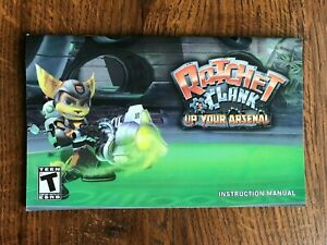 Ratchet & Clank Up Your Arsenal PS2 Playstation 2 Instruction Manual Only