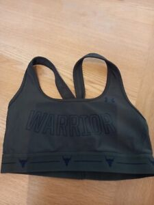 UNDER ARMOUR PROJECT ROCK MID CROSSBACK BRA WARRIOR SIZE M