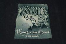 Age Print Handzettel Seidel and Naumann Bicycles Old Vintage Advertising
