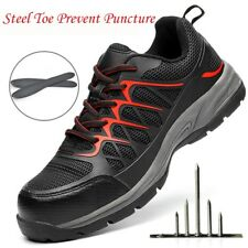 Men Breathable Steel Toe Prevent Puncture Safety Shoes Casual Sneaker Work Boots