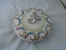 Vintage Gmundner  Keramik Lidded Candy or Trinket Dish Made in Austria