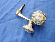 Ancienne poignée de porte bouton porte céramique faïence Old door handle ceramic